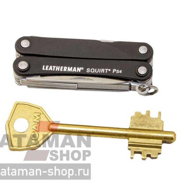 Мультитул LEATHERMAN SQUIRT PS4 BLACK 9 функций